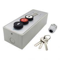 Schlüsselschalter mit 3 Druckknöpfen