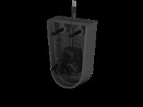 Endkappe mit Stecker für Profile E, F, Kabellänge 0,5m