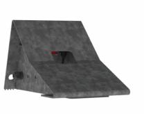 Set Radkeile, Metal, inklusiv Sensoren Fahrzeugdetektion und Wandbefestigung